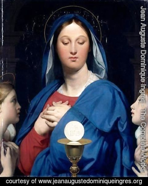 Jean Auguste Dominique Ingres - The Virgin of the Host 2