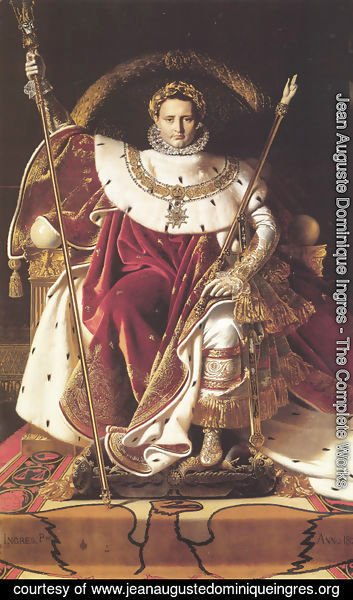 Jean Auguste Dominique Ingres - Napoleon Enthroned